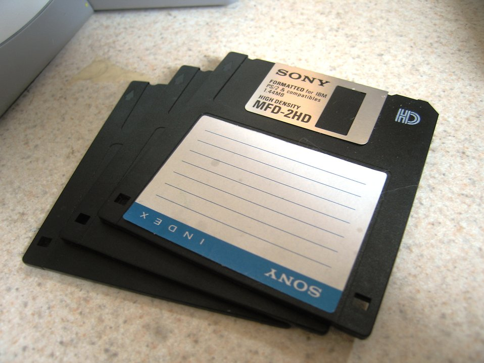 Floppy discs : Free Stock Photo
