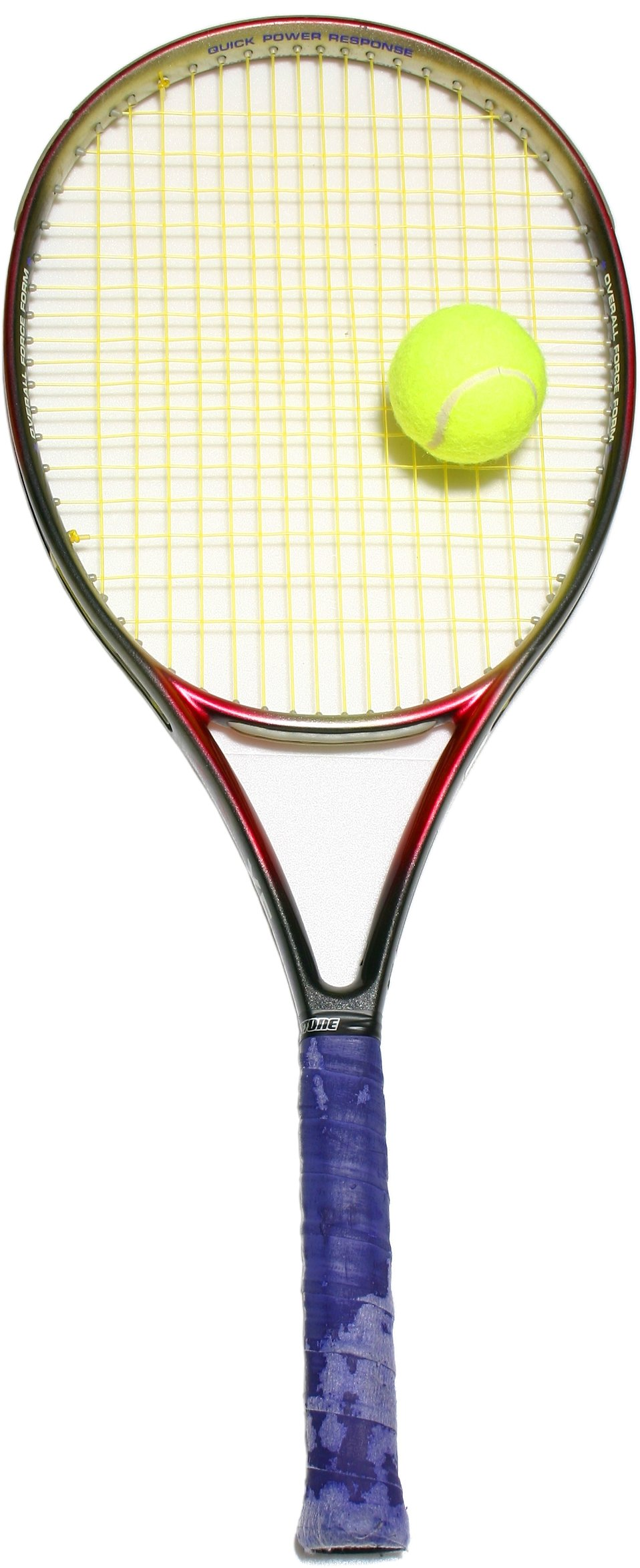 Isolated tennis racquet : Free Stock Photo