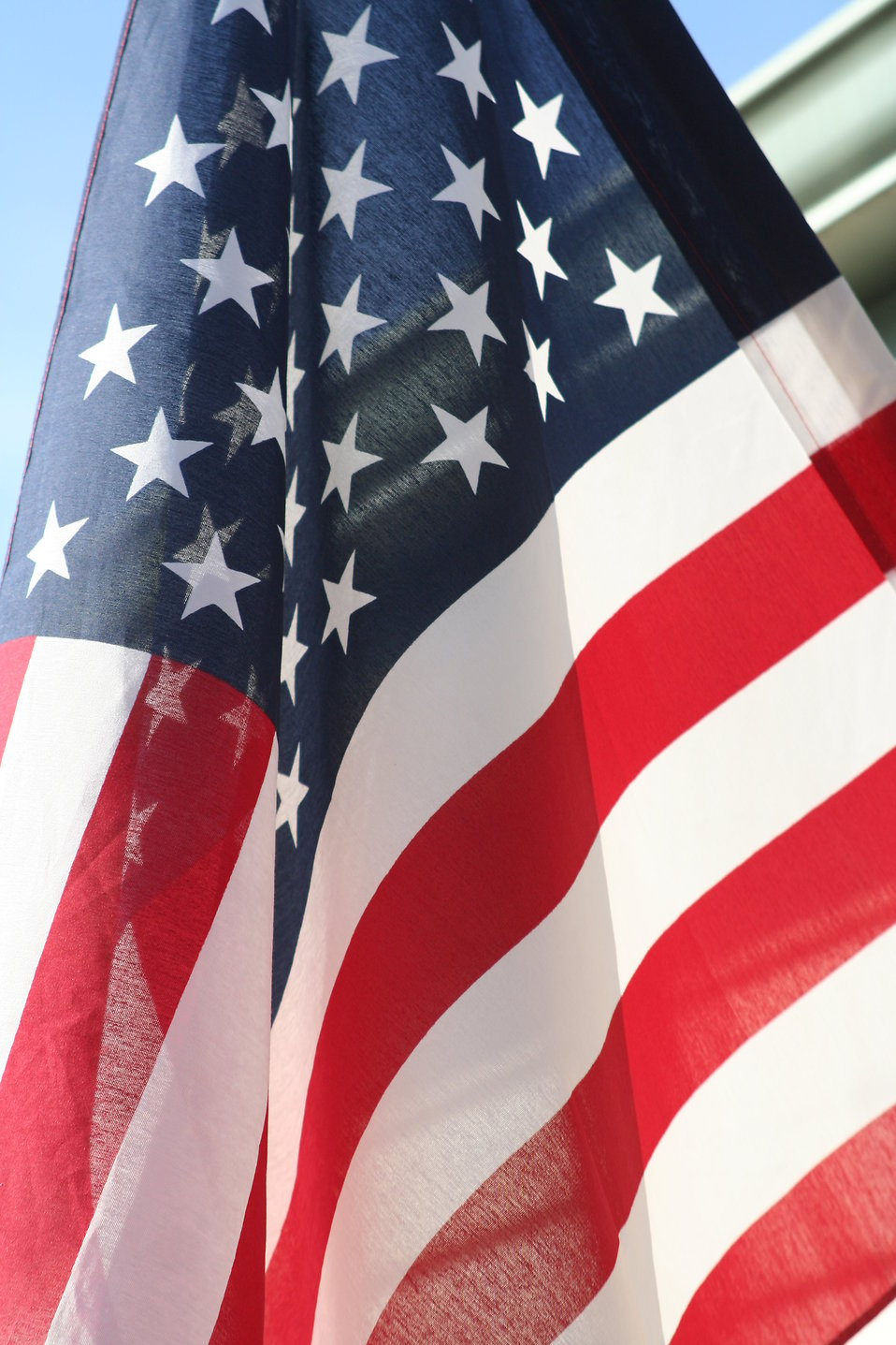 American flag close-up : Free Stock Photo