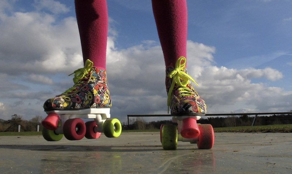 Colorful roller skates : Free Stock Photo