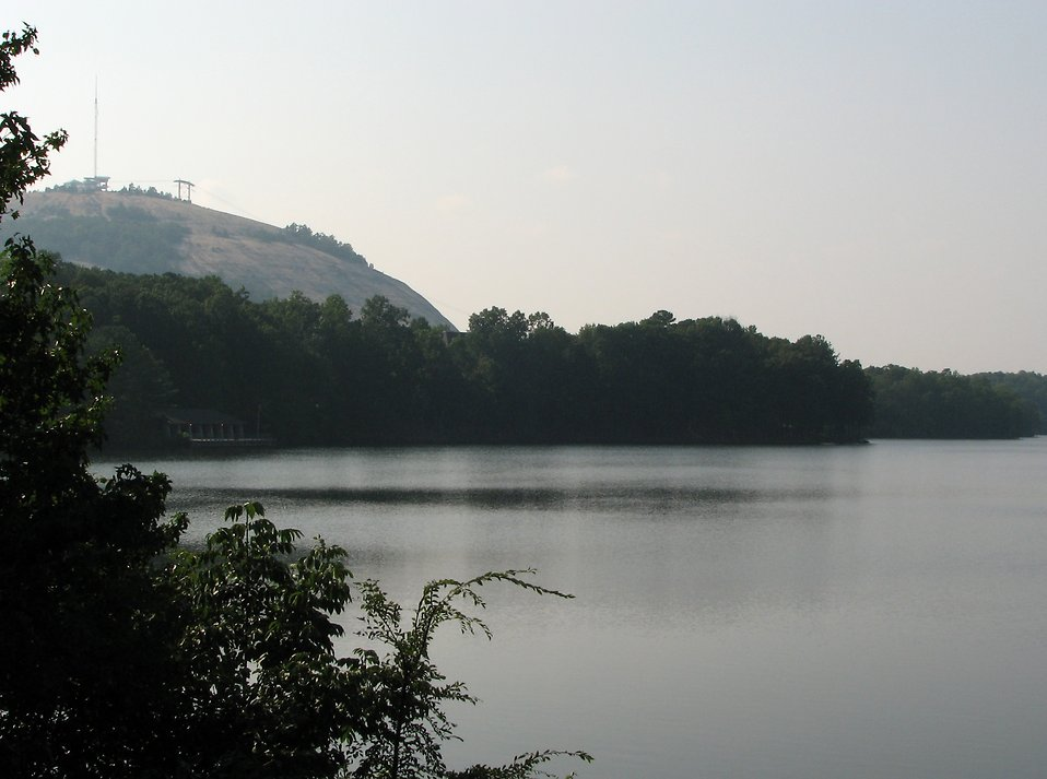 View of a lake by Stone Mountain : Free Stock Photo