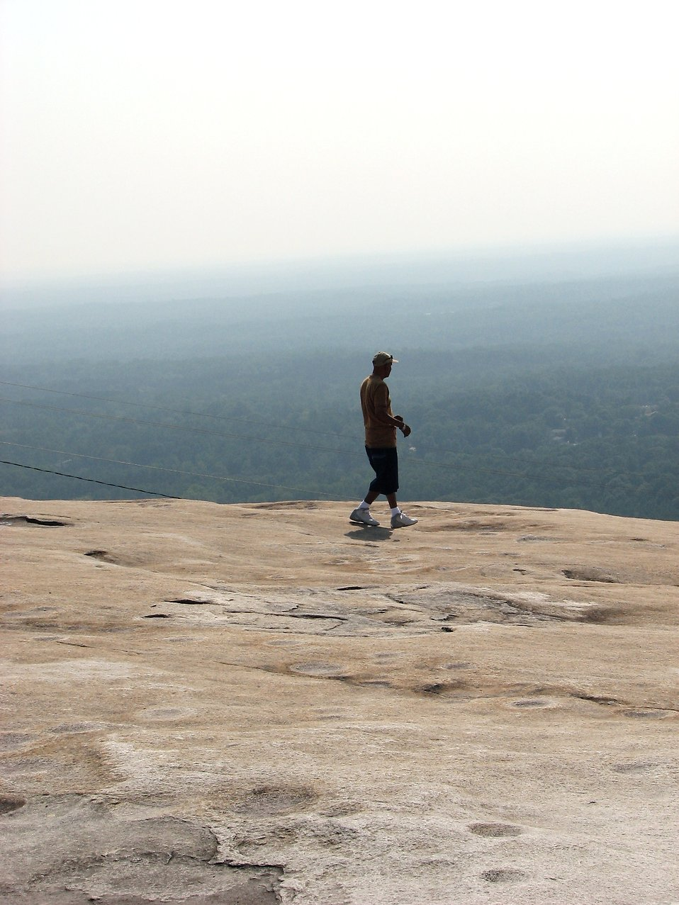 Tourist on top of Stone Mountain in Atlanta, Georgia : Free Stock Photo