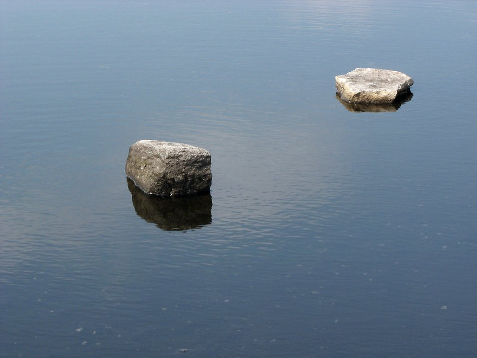 Small rocks on a small pond : Free Stock Photo