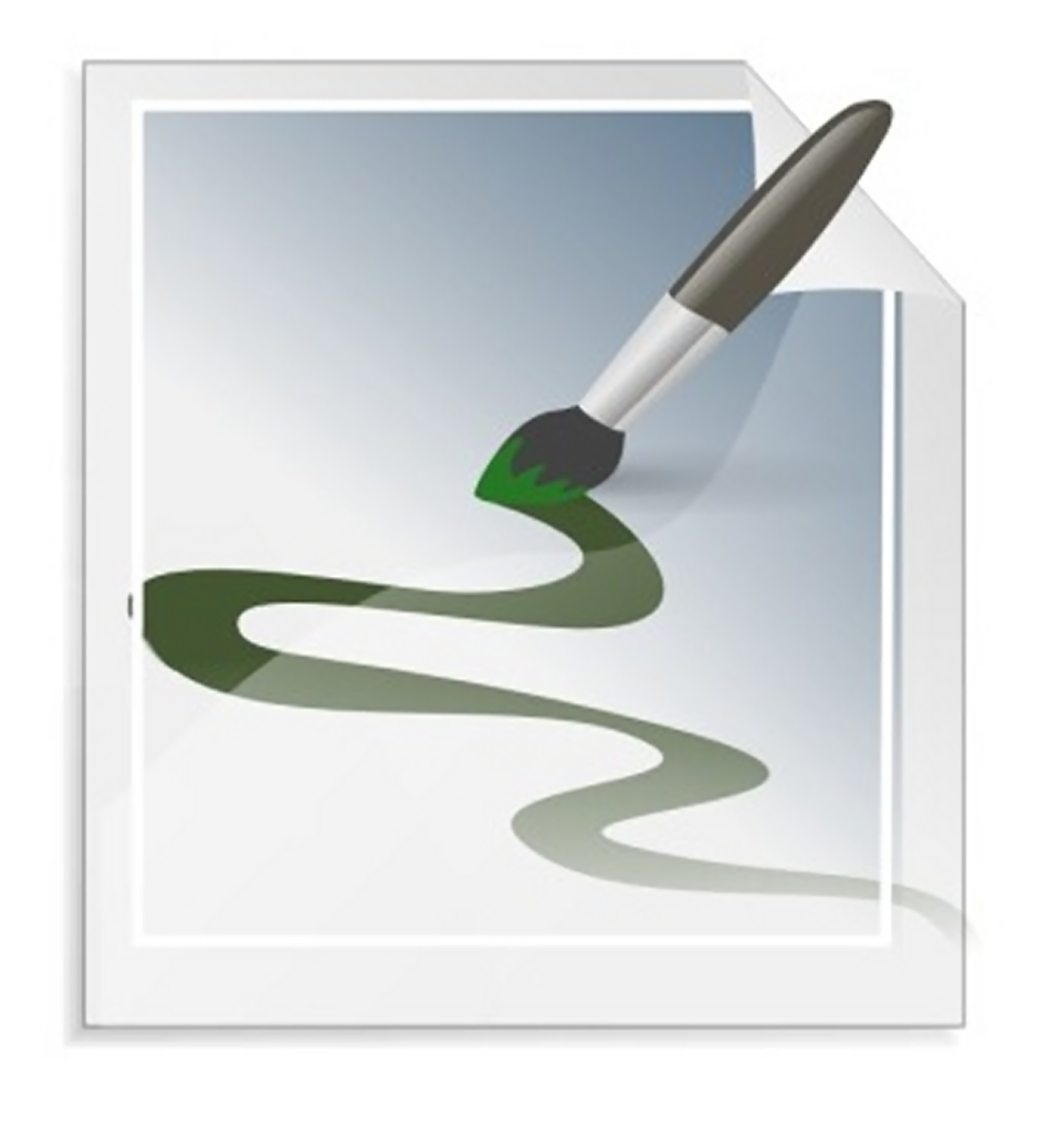 Illustration of a paint brush making a design : Free Stock Photo