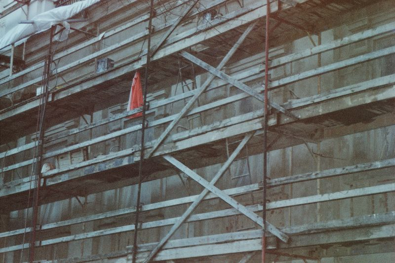 Scaffolding on a building being renovated : Free Stock Photo