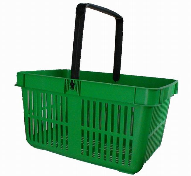 A green plastic shopping basket : Free Stock Photo