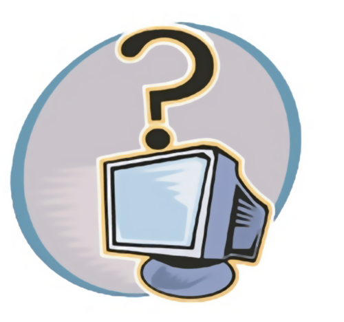 Illustration of computer with question mark : Free Stock Photo