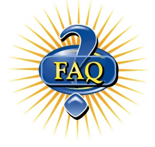 Illustration of a question mark and FAQ text : Free Stock Photo