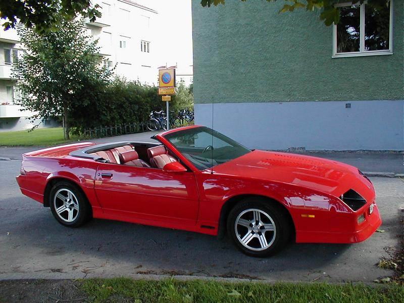 Side view of a convertible red sports car : Free Stock Photo
