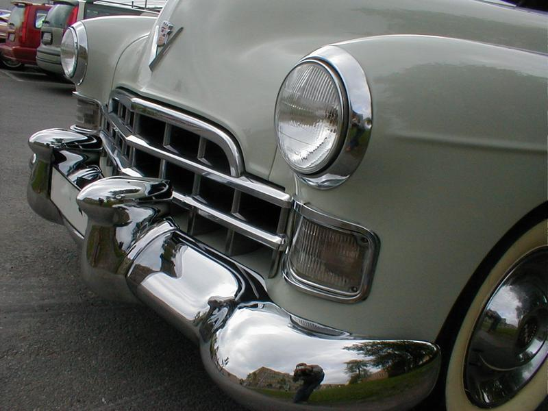 Cars Clip Art >> Car Vintage | Free Stock Photo | Front bumper and headlights of vintage white car | # 2182