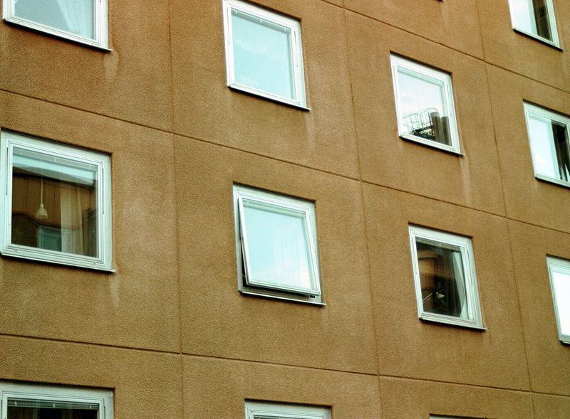 Several square apartment windows : Free Stock Photo