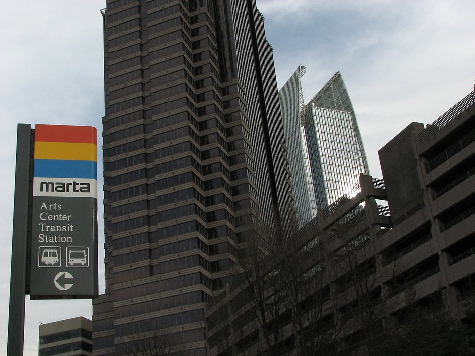 Public transit station sign in Atlanta, Georgia : Free Stock Photo
