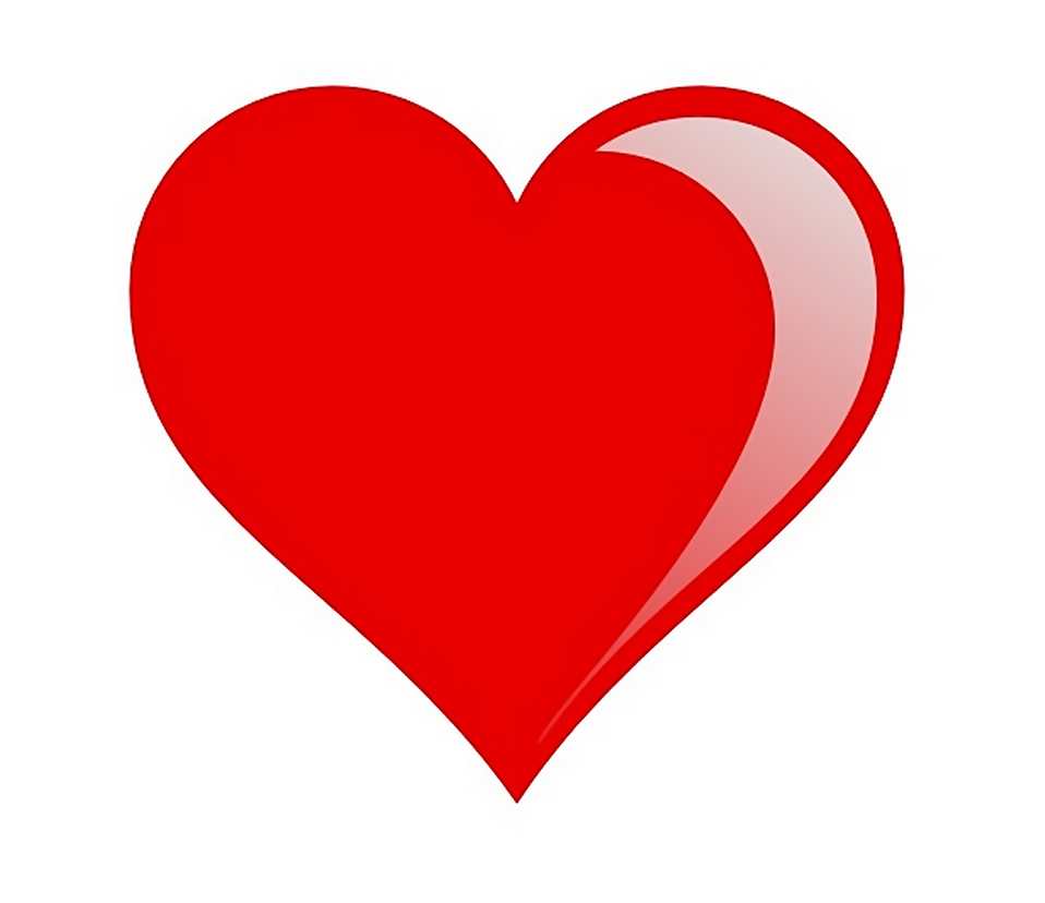 Illustration of a red heart : Free Stock Photo