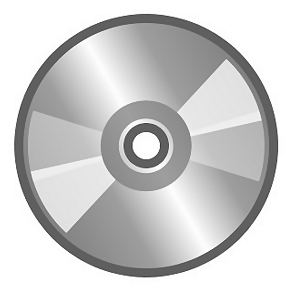 Illustration of a gray compact disc : Free Stock Photo