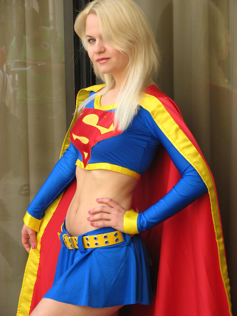 Beautiful woman in Supergirl costume at Dragoncon : Free Stock Photo