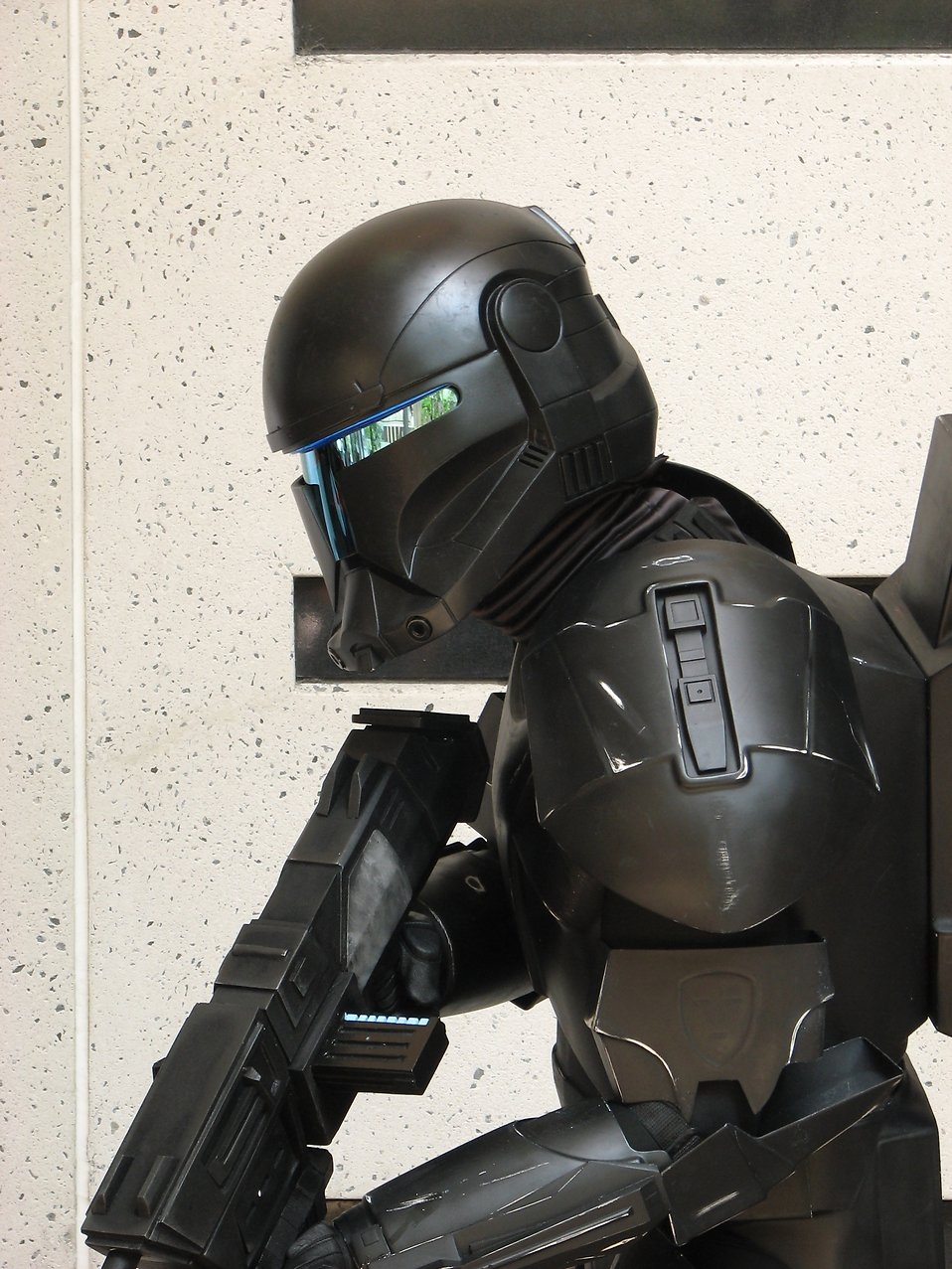Closeup of a dark trooper costume at Dragoncon 2008 : Free Stock Photo