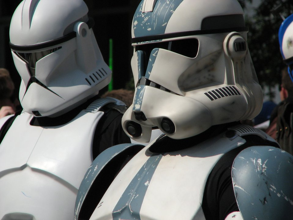 Clone troopers in 2008 Dragoncon parade : Free Stock Photo