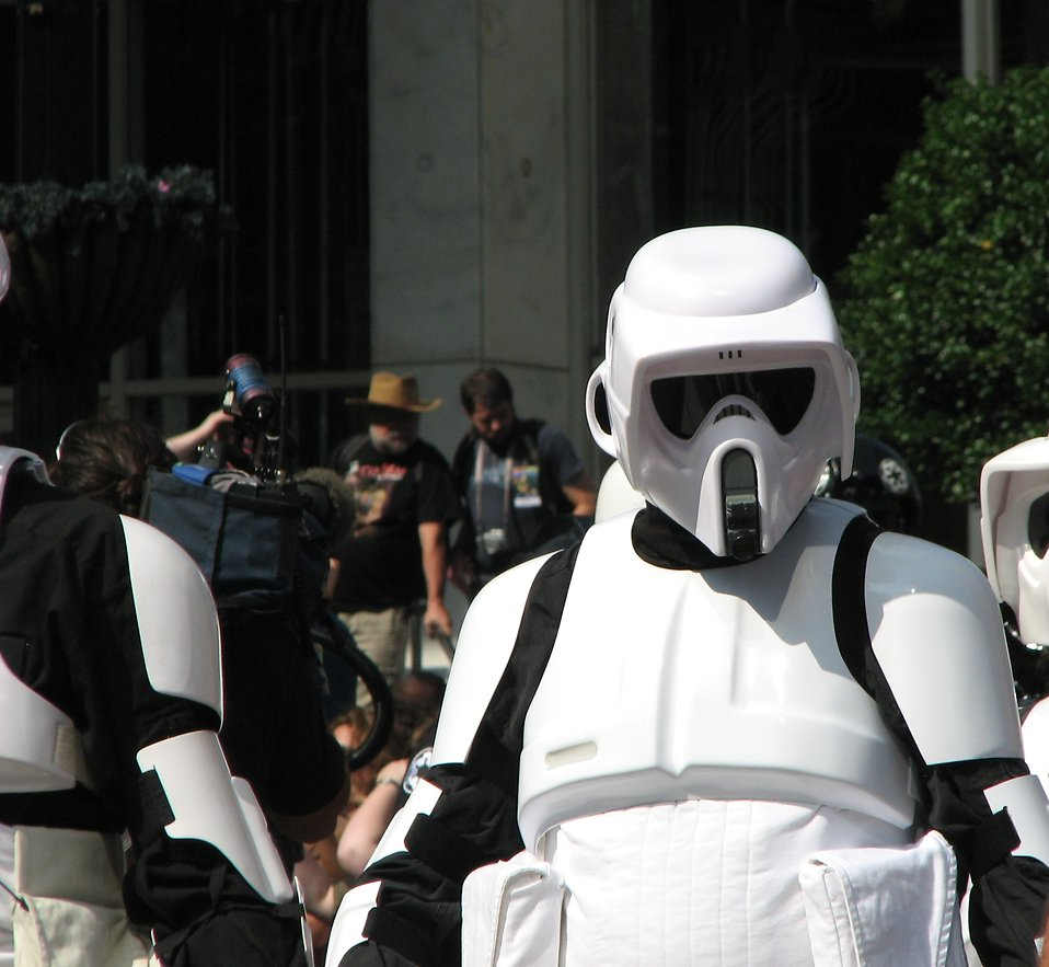 Biker Scout costume in the 2008 Dragoncon parade : Free Stock Photo
