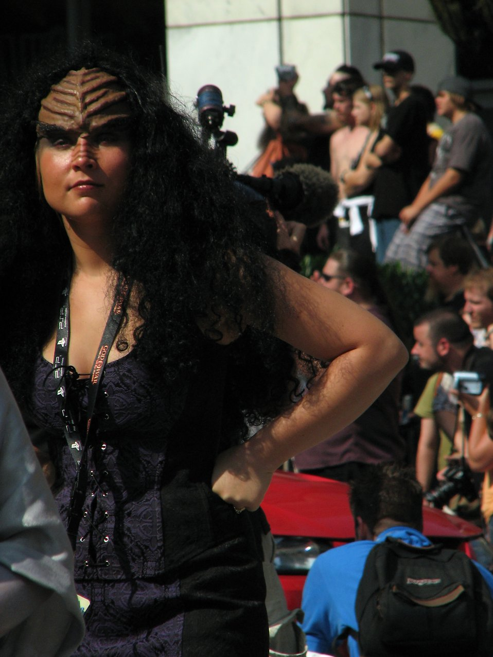 A Klingon costumed woman in the 2008 Dragoncon parade : Free Stock Photo