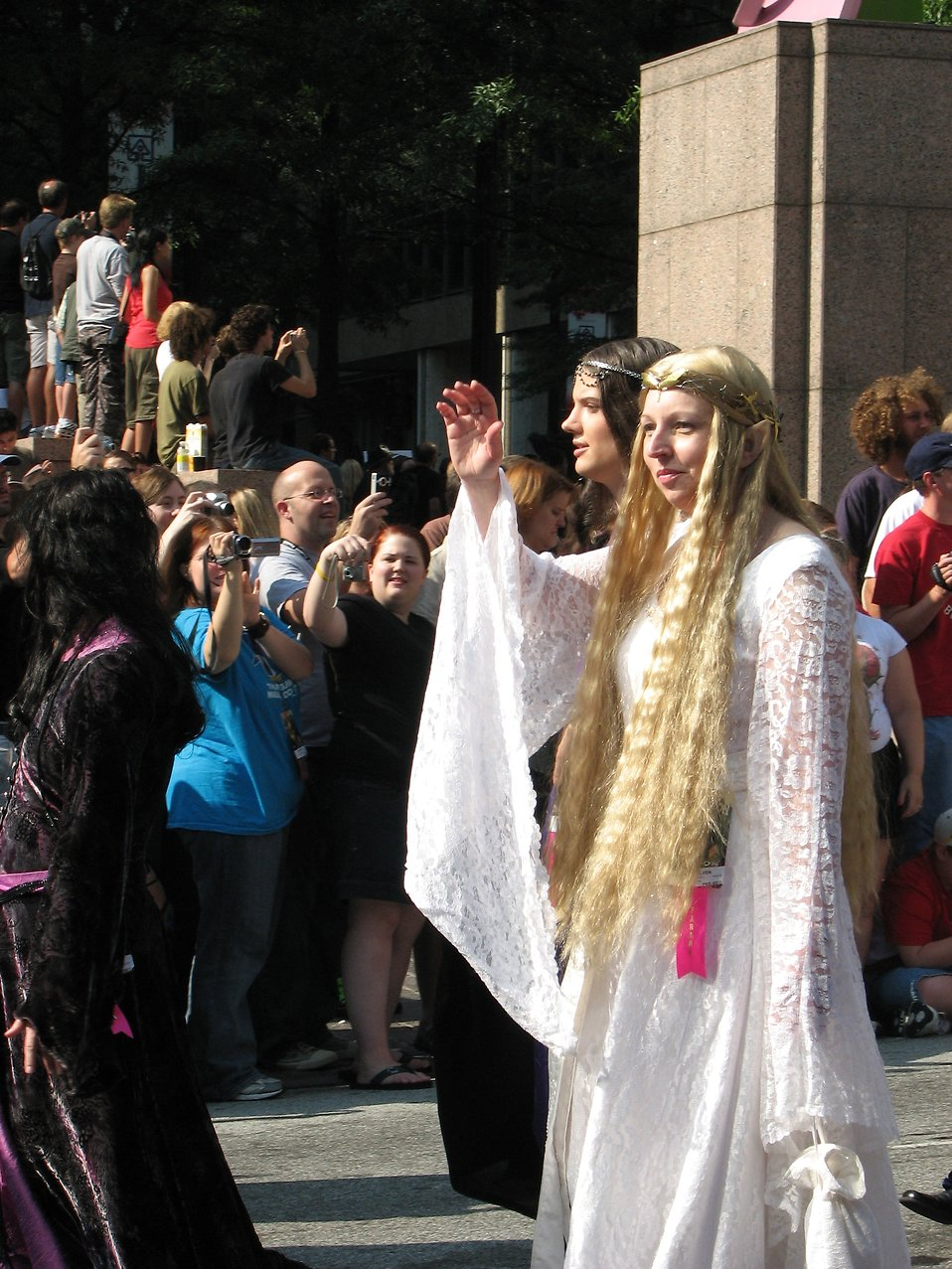 A beautiful elf couple in the 2008 Dragoncon parade : Free Stock Photo