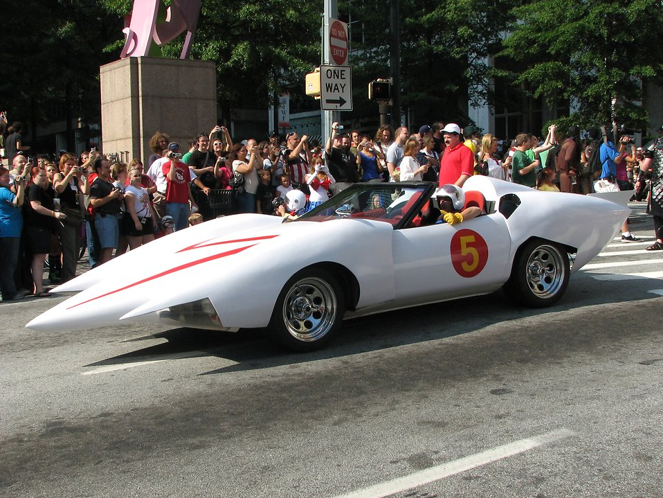 Speed Racer car in the 2008 Dragoncon parade : Free Stock Photo