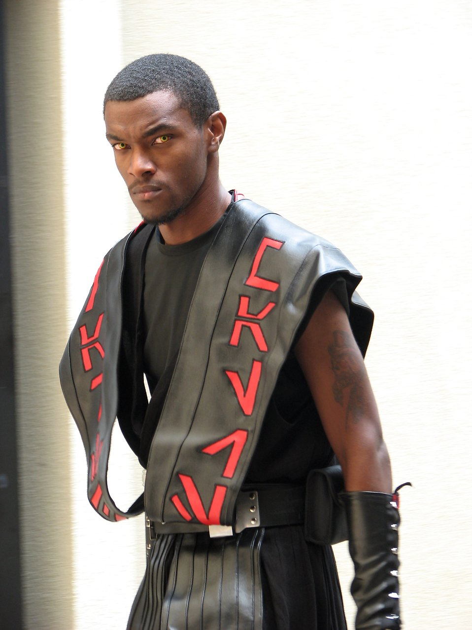 Young black man in leather alien costume at Dragoncon 2008 : Free Stock Photo