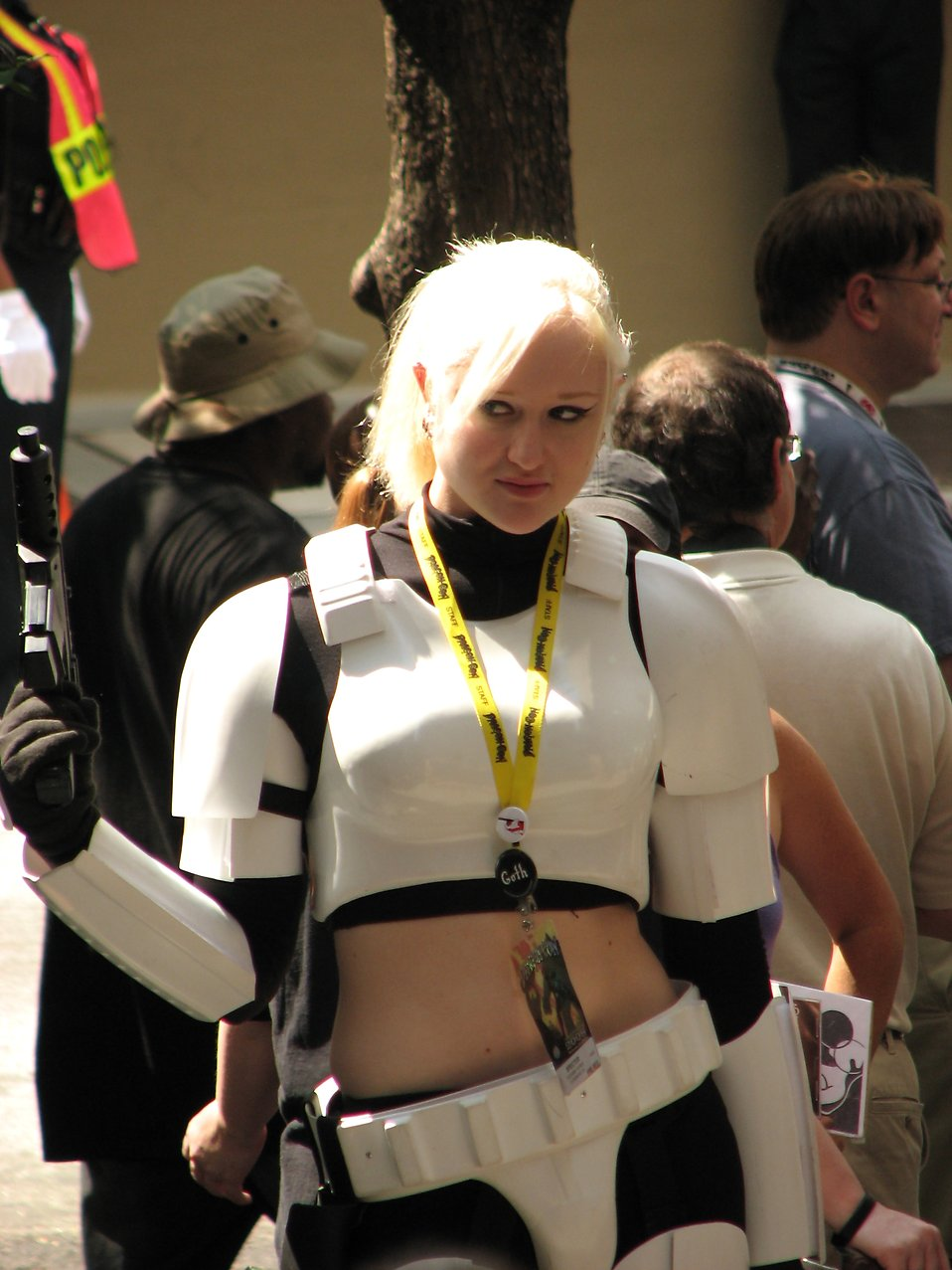 Beautiful girl in Stormtrooper costume at Dragoncon 2008 : Free Stock Photo