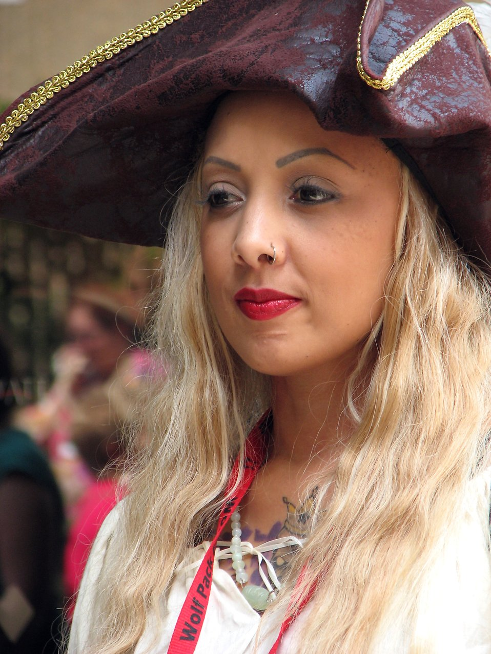 Portrait of a beautiful woman pirate at Dragoncon 2008 : Free Stock Photo