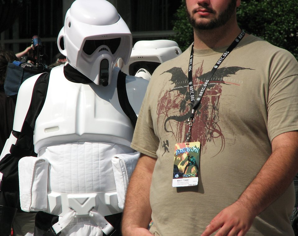 Biker Scout costumes in the 2008 Dragoncon parade : Free Stock Photo
