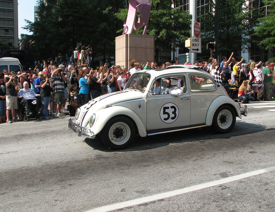 Herbie the Love Bug in the 2008 Dragoncon parade : Free Stock Photo