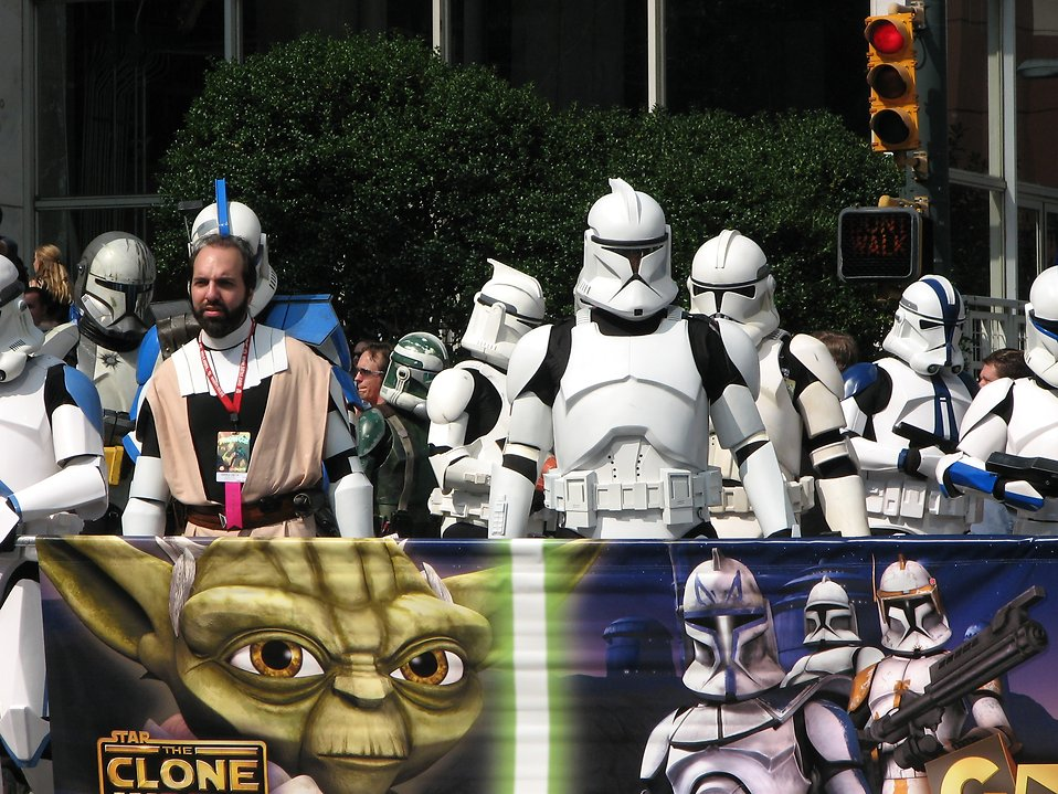 Clone Troopers in the 2008 Dragoncon parade : Free Stock Photo