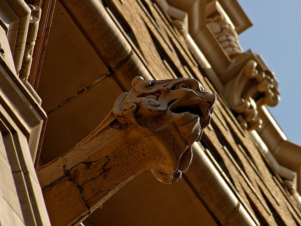 Gargoyle near grand central market LA : Free Stock Photo