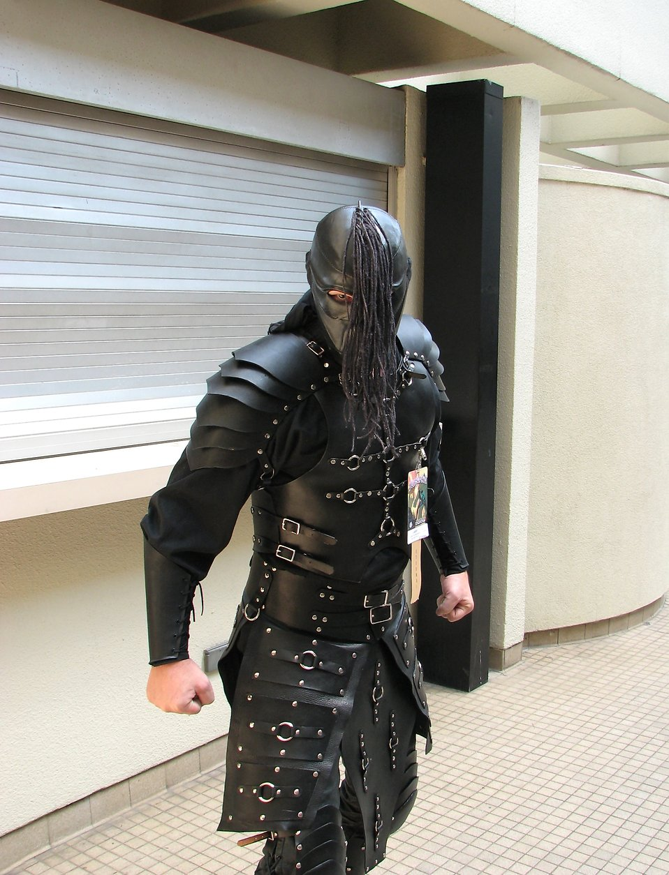 A man in a leather costume at Dragoncon 2008 : Free Stock Photo