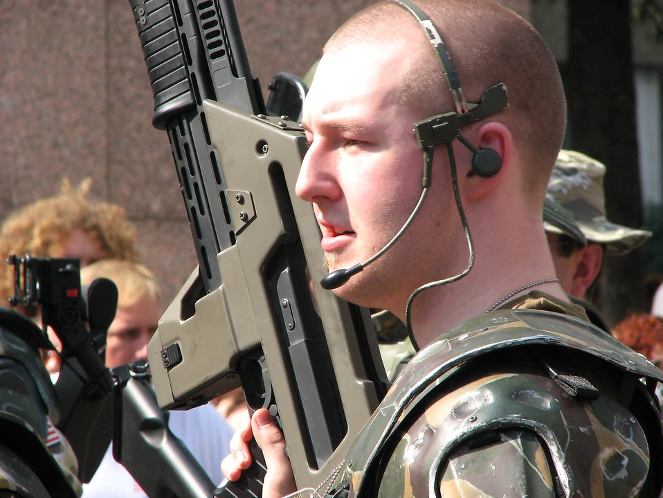 Man in soldier costume at Dragoncon 2008 : Free Stock Photo