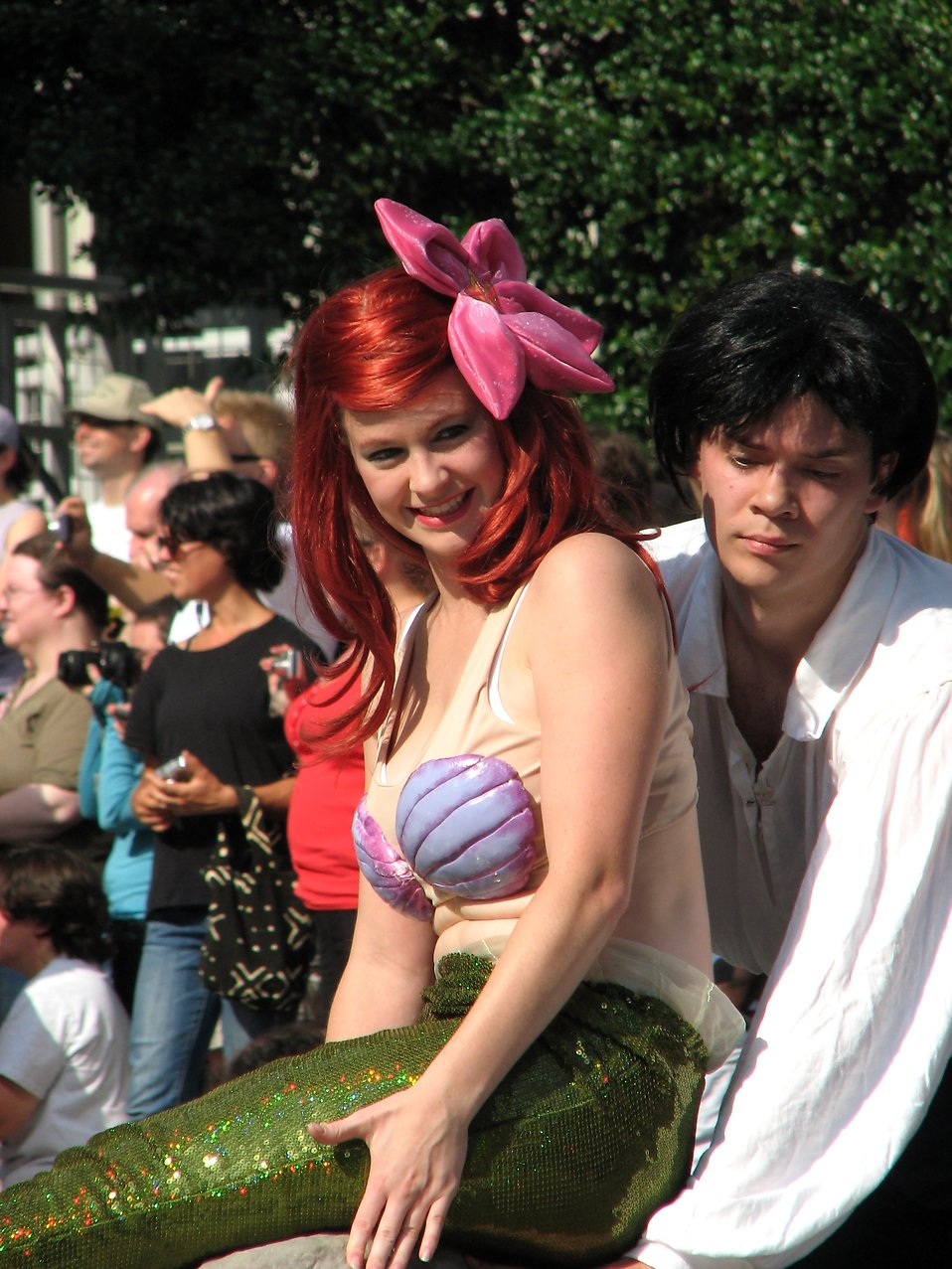 Man and a mermaid in the 2008 Dragoncon parade : Free Stock Photo