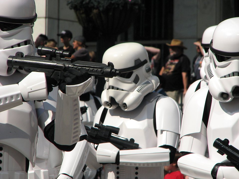 Stormtroopers in the 2008 Dragoncon parade : Free Stock Photo