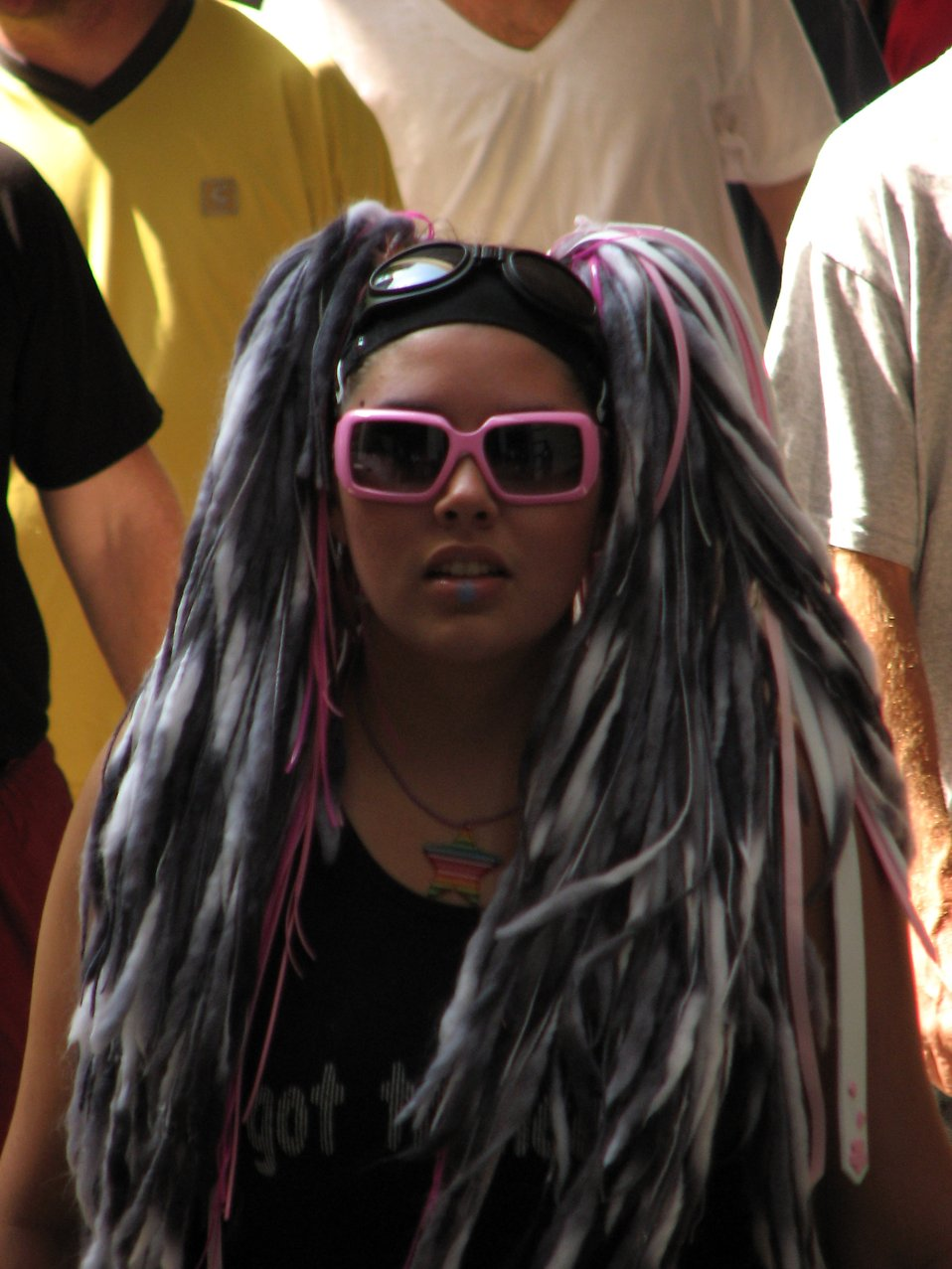Beautiful young black girl in an anime costume at Dragoncon 2008 : Free Stock Photo