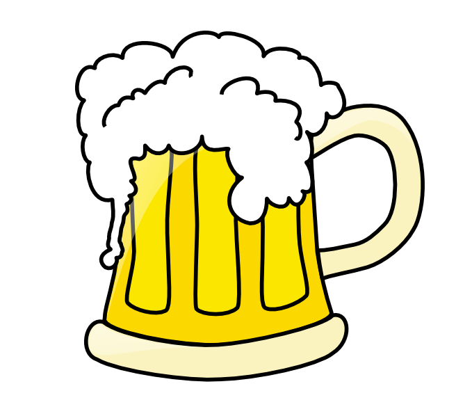 Illustration of a glass of beer : Free Stock Photo