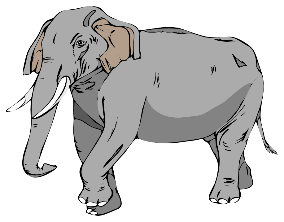 Illustration of an elephant marching : Free Stock Photo