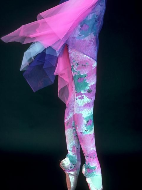 Closeup of a ballerina's colorful legs and slippers : Free Stock Photo
