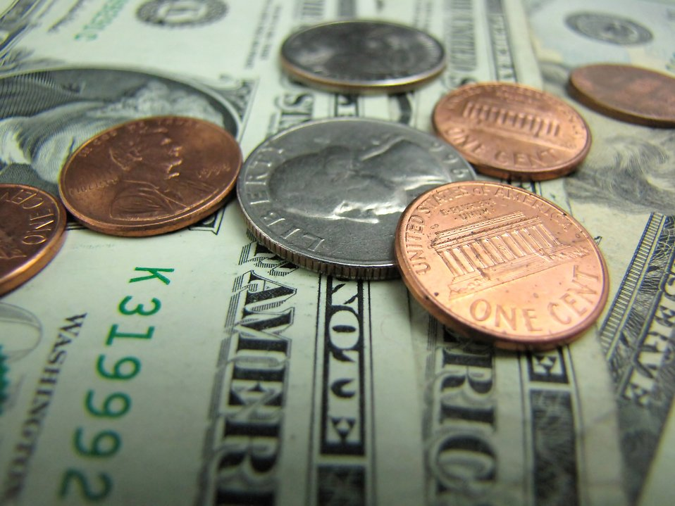 Close-up of US currency : Free Stock Photo