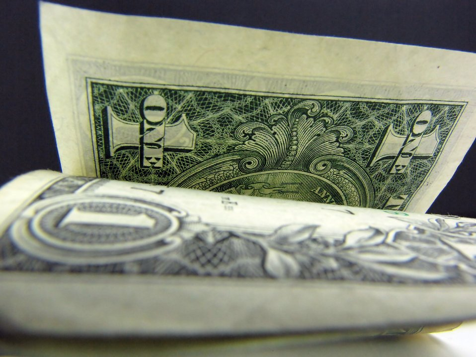 Close-up of US dollar bills : Free Stock Photo
