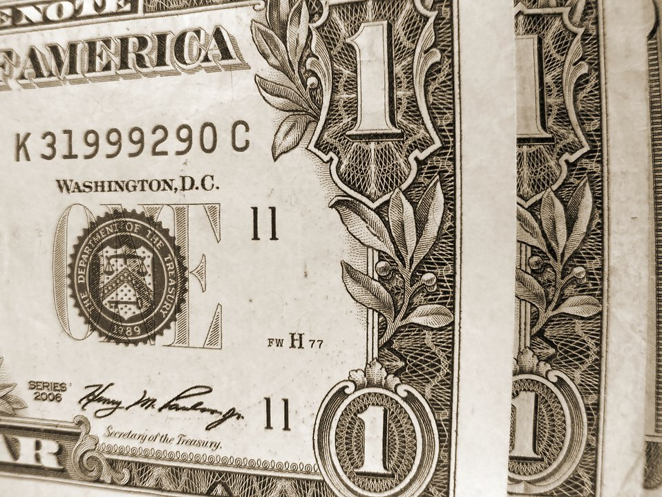 Black and white close-up of US dollars : Free Stock Photo