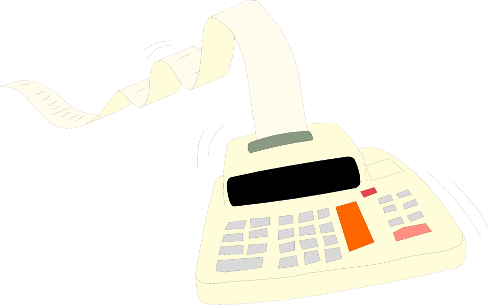 Illustration of an adding machine : Free Stock Photo