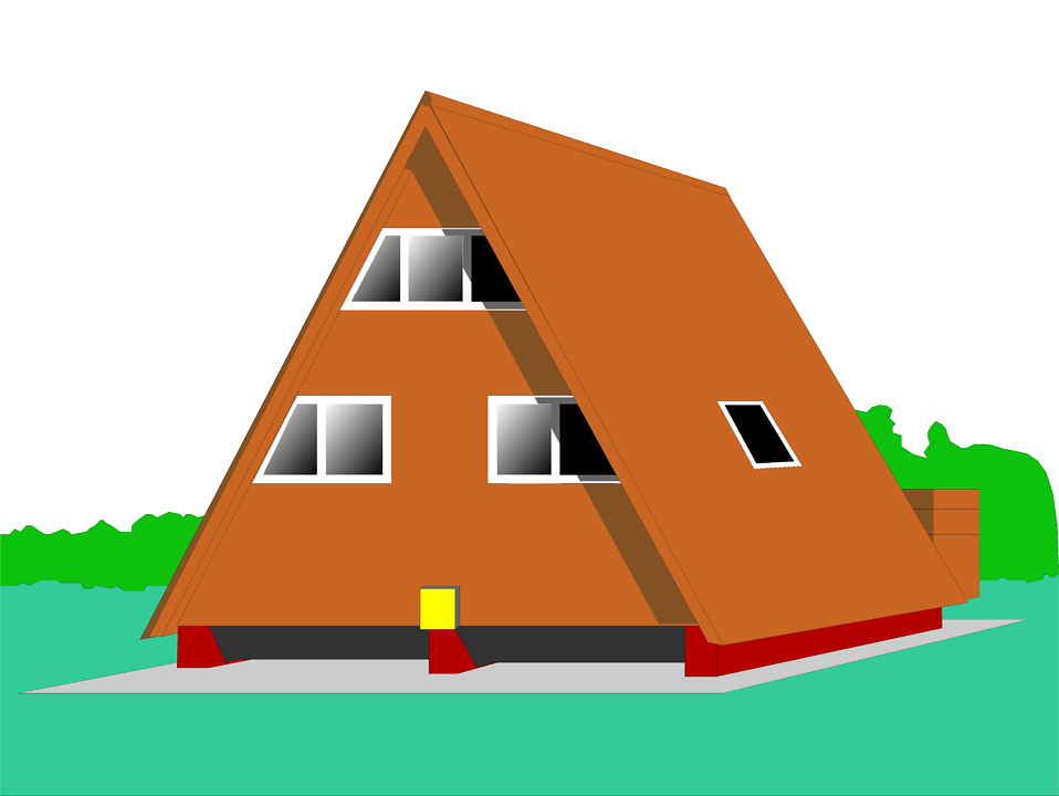 Illustration of an A Frame house : Free Stock Photo