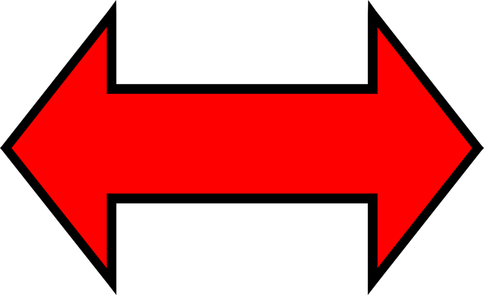 Illustration of a red horizontal arrow : Free Stock Photo