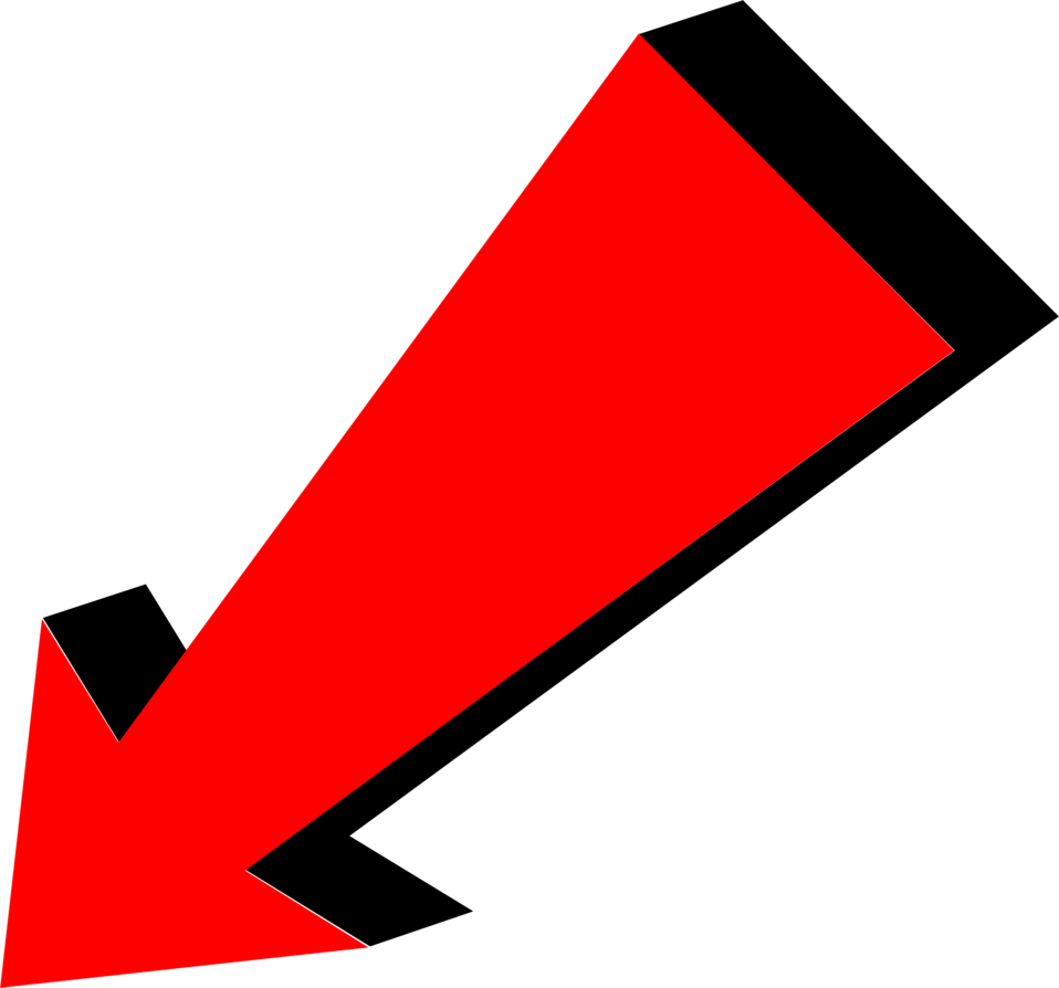 Illustration of a diagonal red arrow : Free Stock Photo