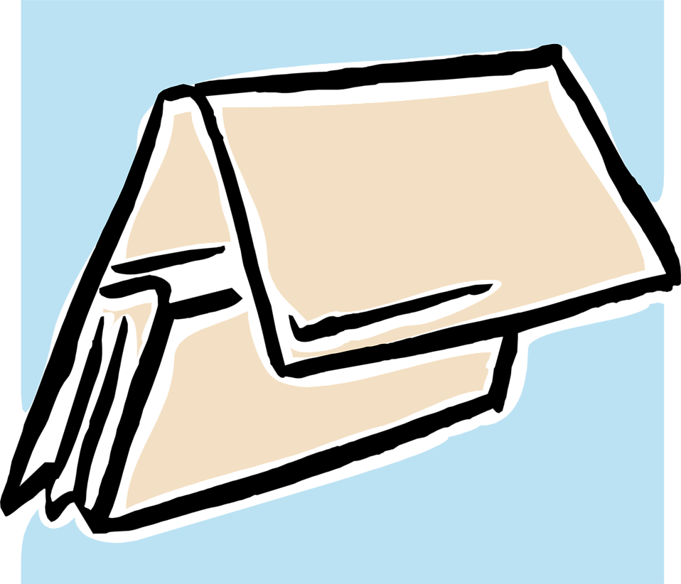 Illustration of a tan folder : Free Stock Photo