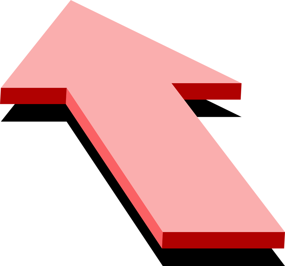 Illustration of a pink up arrow : Free Stock Photo