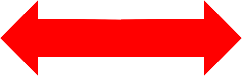 Illustration of a red left and right arrow : Free Stock Photo